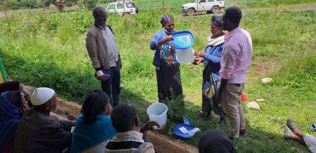 Tulip water filter traning session